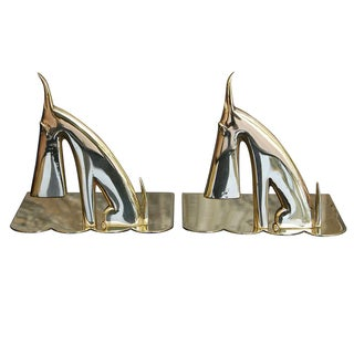 Karl Hagenauer Style Scottie Dog Brass Bookends