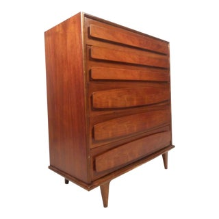 American of Martinsville Mid-Century Modern High Boy Dresser