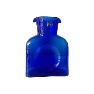 Blenko Cobalt Blue Carafe