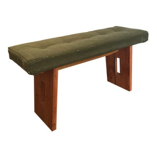 Vintage Military Canvas Bench