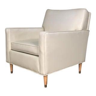 White Mid-Century Modern Lounge Chair