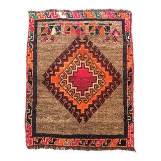 Vintage Gabbah Wool Tribal Rug - 2′ × 2′6″