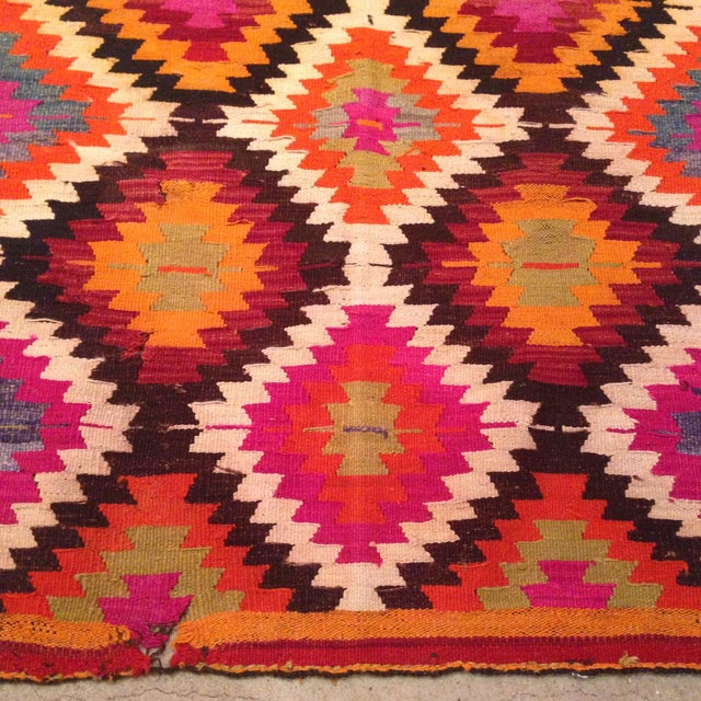 Vintage Turkish Kilim Runner - 4' X 9' - Image 5 of 7