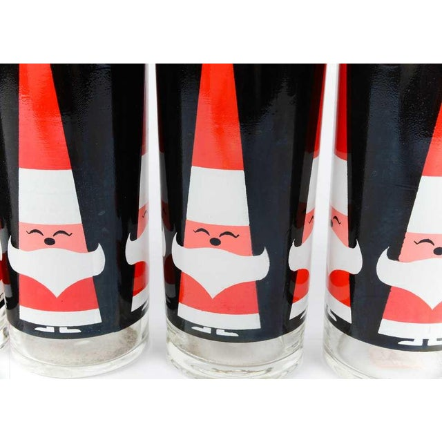 Holt Howard MCM Dairy Queen Christmas Glasses- S/6 - Image 3 of 5