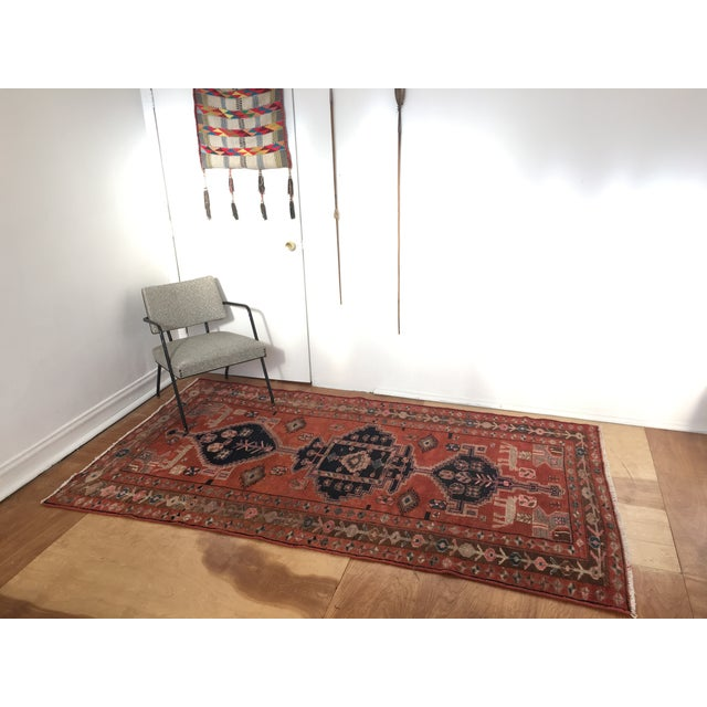 "Vintage Persian Rug 4'8""x 8'2"" - Image 3 of 7"