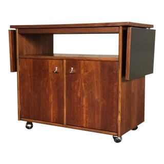 Stanley American Forum Mid-Century Modern Server / Bar Cart - TV Stand