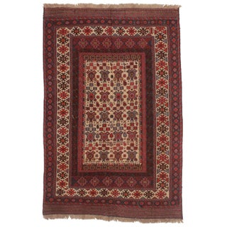 "RugsinDallas Vintage Handwoven Soumak Rug Wool - 5'9"" X 8'9"""