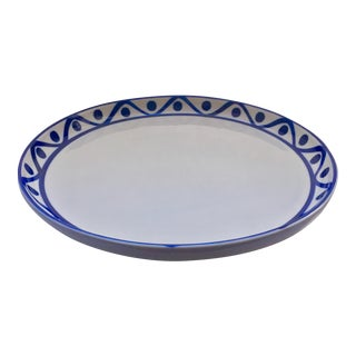 Vintage Dansk Blue & White Cord Pattern Serving Platter