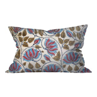 Indian Block Print Floral Pillow Cover