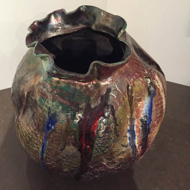 Image of Michael Stedman Raku Vase
