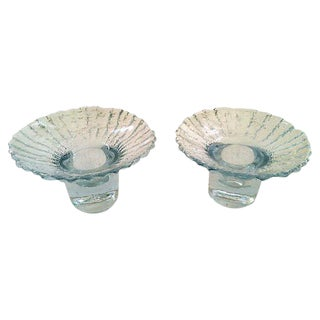 Nanny Still Glass Candleholders - A Pair