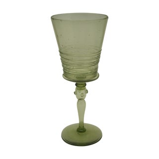 Steuben Spanish Green Stemware Wine Glass 6359