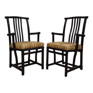 John McGuire Dining Arm Chairs - A Pair