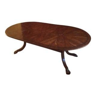 Semi-Custom Oval Trestle Base Table
