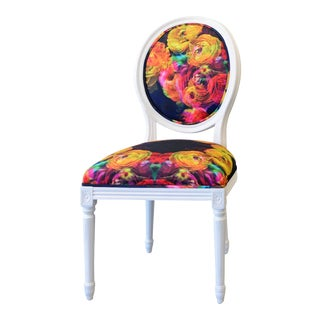 French Floral Upholstered Chair