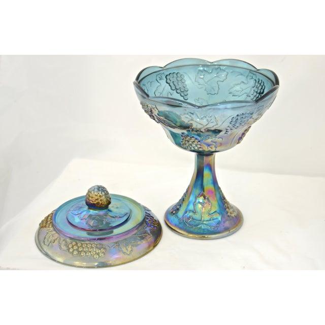 Peacock Blue Pedestal Bowl - Image 3 of 4
