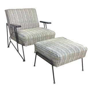 Mid-Century Modern Lounge Chair & Ottoman
