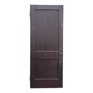 Vintage Brown 2 Panel Weathered Wood Door