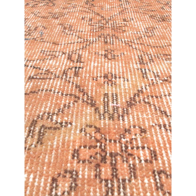 "Vintage Peach Turkish Over-Dyed Rug - 3'5"" X 6'4"" - Image 2 of 2"