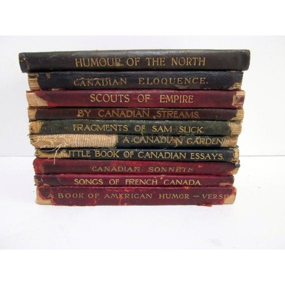 Vintage Leather Poetry Books - Set of 9 - Image 2 of 3
