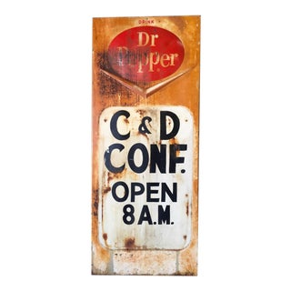 Vintage Original Dr. Pepper Soda Shop Sign
