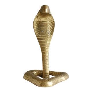 Vintage Brass Snake Figurine Paperweight