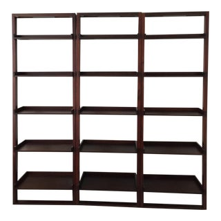 Crate and Barrel Sloane Leaning Book Case Set 3
