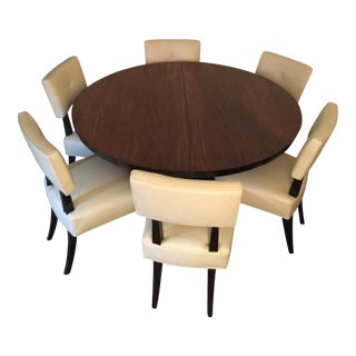 Bernhardt Solid Wood Dining Table & Chairs