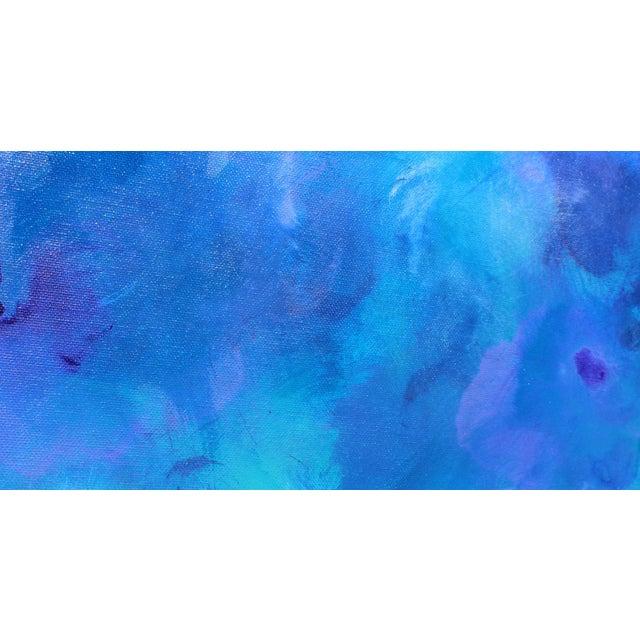 """Bluzing"" Acrylic on Canvas Painting - Image 2 of 2"