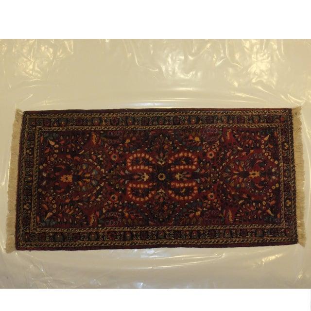 "Antique Persian Sarouk Runner Rug 4' x 2'1"" - Image 2 of 5"
