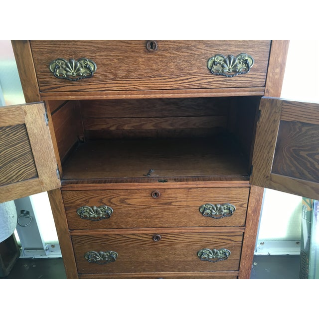 Image of Antique Oak Highboy