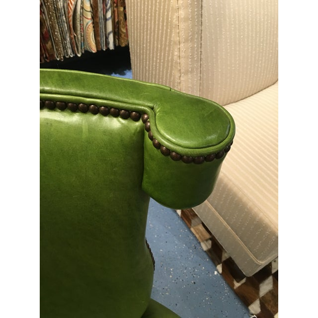 Image of CR Laine Furniture Green Leather Desk Chair