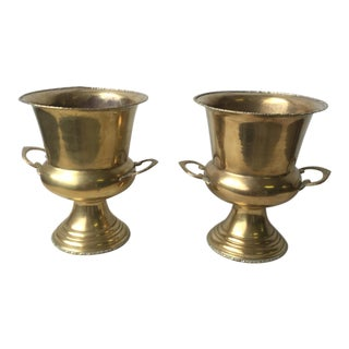 Traditional Brass Urns - a Pair