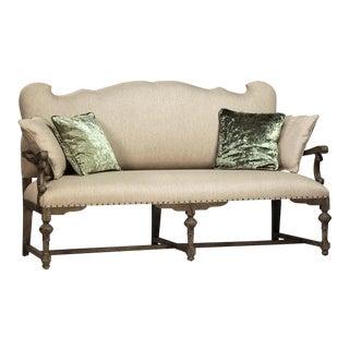 Art Nouveau Upholstered Settee