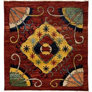 """New Contemporary Hand Knotted Area Rug - 6' x 6'2"""""""