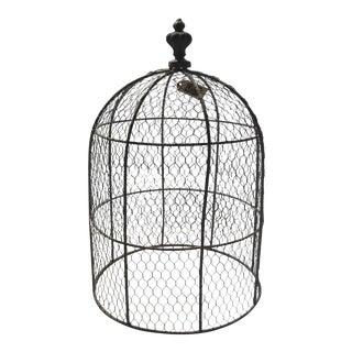 Gray Chicken Wire Cloche