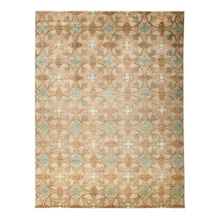 "Suzani, Hand Knotted Beige Wool Area Rug - 9' 1"" X 12' 1"""