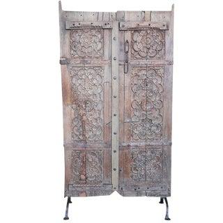 Anglo Indian Carved Teak Door