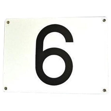 Number 6 or 9 Vintage Porcelain Enamel Sign - Image 1 of 6