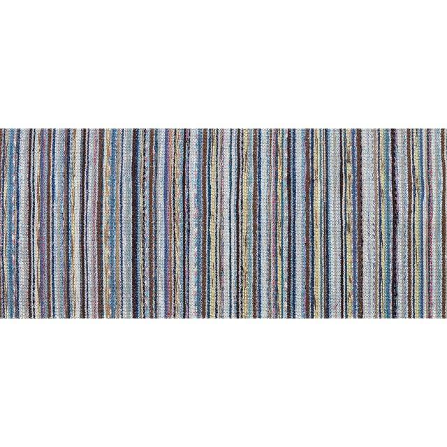 "Vintage Scandinavian Handmade Rug - 2'2"" x 9'3"" - Image 7 of 9"