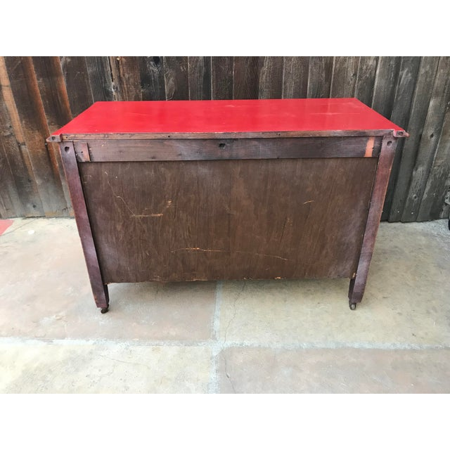 Candy Apple Red Four Drawer Buffet - Image 4 of 8