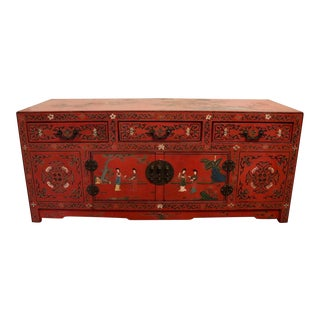 Antique Red Chinese Sideboard