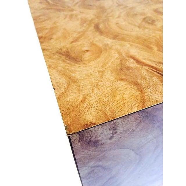 Image of Vintage Burlwood Cube Side Table