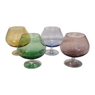 Italian Brandy or Cognac Snifters - Set of 4