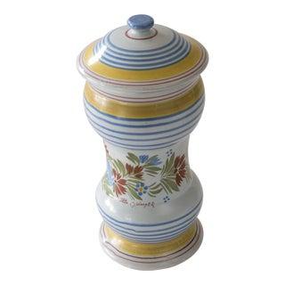 French Quimper Lidded Vase
