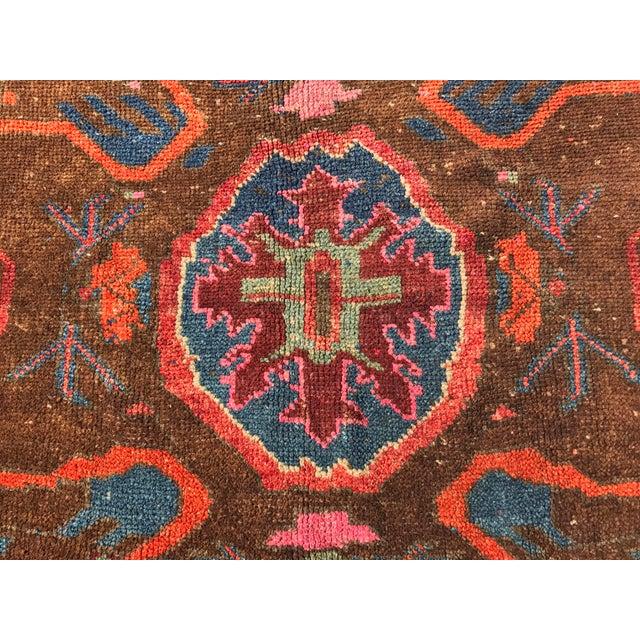 """Antique Turkish Oushak Square Rug - 5'6"""" x 5'7"""" - Image 6 of 11"""