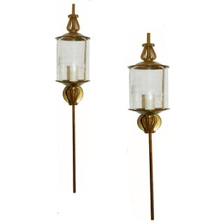 Vintage French Lunel Sconces - Pair