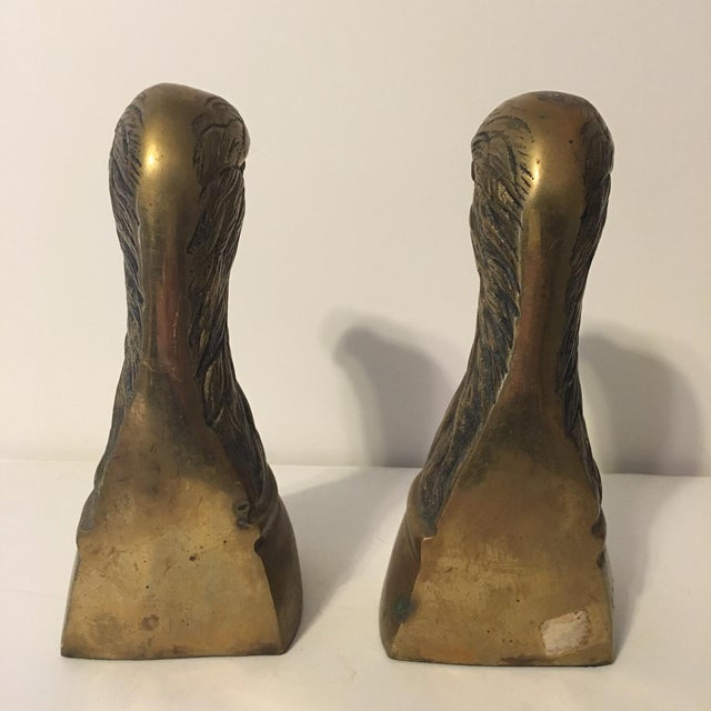 Brass Eagle Bookends - A Pair - Image 6 of 6