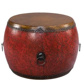 Sarreid Ltd. Red Drum Side Table