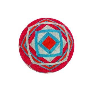 Temari Ball Pink & Blue Layered Squares Ornament